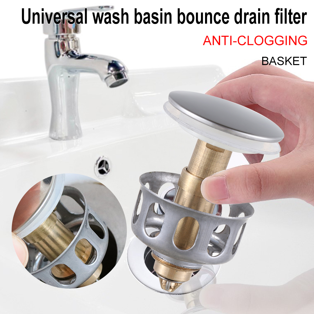 Universal Wash Basin Bounce Drain Filter-High Quality