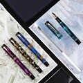 Nowy Moonman M600S celuloid pióro wieczne EF/F/M/wygięta stalówka z konwerterem doskonałe modne biuro prezent do pisania pióro dla biznesu