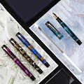 Nueva pluma estilográfica de celuloide Moonman M600S EF/F/M/plumín curvo con convertidor de moda excelente pluma de regalo de escritura de oficina para negocios