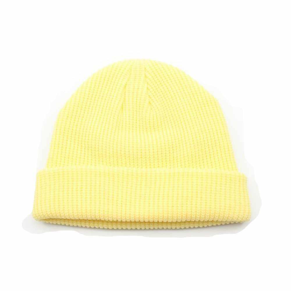 بلون محبوك الشتاء الدافئة قبعة الاطفال تنفس للجنسين الشتاء القبعات للرجال موضة الدفء محبوك الصوف قبعة czapka