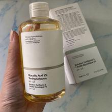 240ml comum ácido glicólico 7% tonificação solução suave esfoliação pele clara mesmo tom de pele melhorar a textura da pele