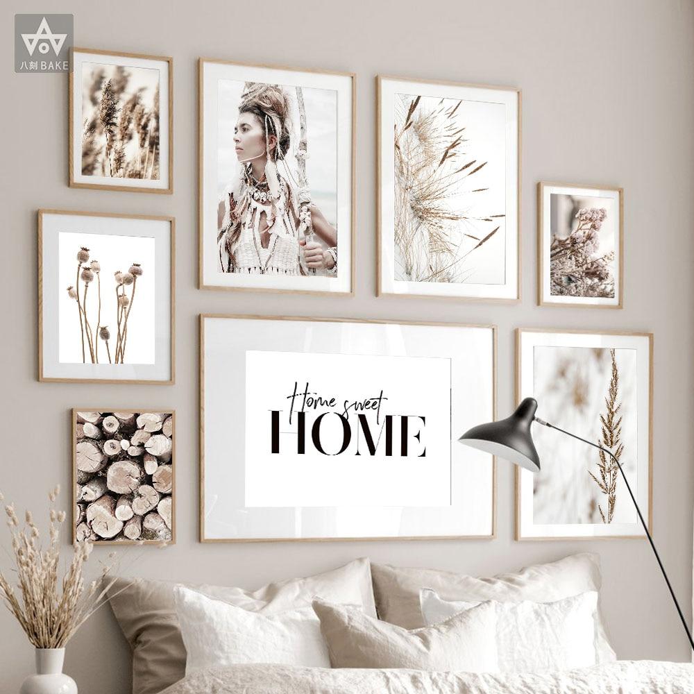 Дикий Бохо женщина пшеничное растение дома цитаты плакат холст стены искусства печать природы пейзаж живопись декоративные скандинавские фотографии