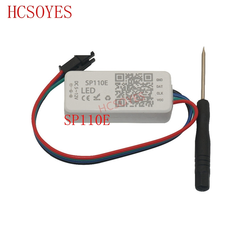 SP110E Bluetooth Pixel Light Controller By Smart Phone APP For WS2812B SK6812 LPD8806 DMX512 1903 RGB/RGBW DC5-24V