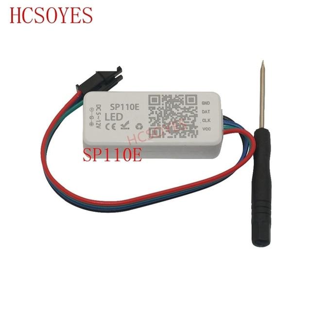 SP110E Bluetooth Pixel light Controller by smart phone APP For WS2812B SK6812 LPD8806 DMX512 1903 RGB/RGBW DC5 24V