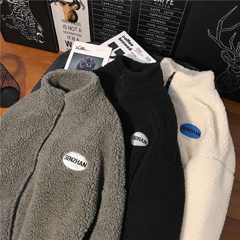 2020 Faux lamb wool coat winter clothes women zipper sweatshirt all-match thinner stand collar cardigan harajuku hoodie women 2