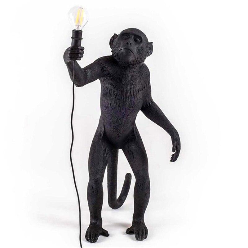 Lampe de singe moderne corde pendentif LED lumières éclairage pour enfants chambre Art répliques nordiques résine Seletti suspension lampe décor luminaire - 6