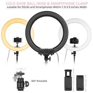 Image 3 - SAMTIAN טבעת אור 14 אינץ טבעת מנורת dimmable 384PCS LED תאורה עם חצובה עבור סטודיו צילום YouTube איפור ringlight