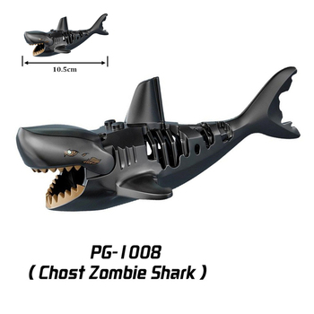 Pirates of the Caribbean Shark Figures Animals Blocks Series Building Toy  For Children Assemble Toys Kids Gifts
