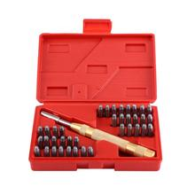 38Pcs/Box Steel Auto Letter Number Stamping Metal Punch Set Stamp Automatic Center Alphabet 3 8 10mm letter steel stamp die punch set a z 27 pcs part codes