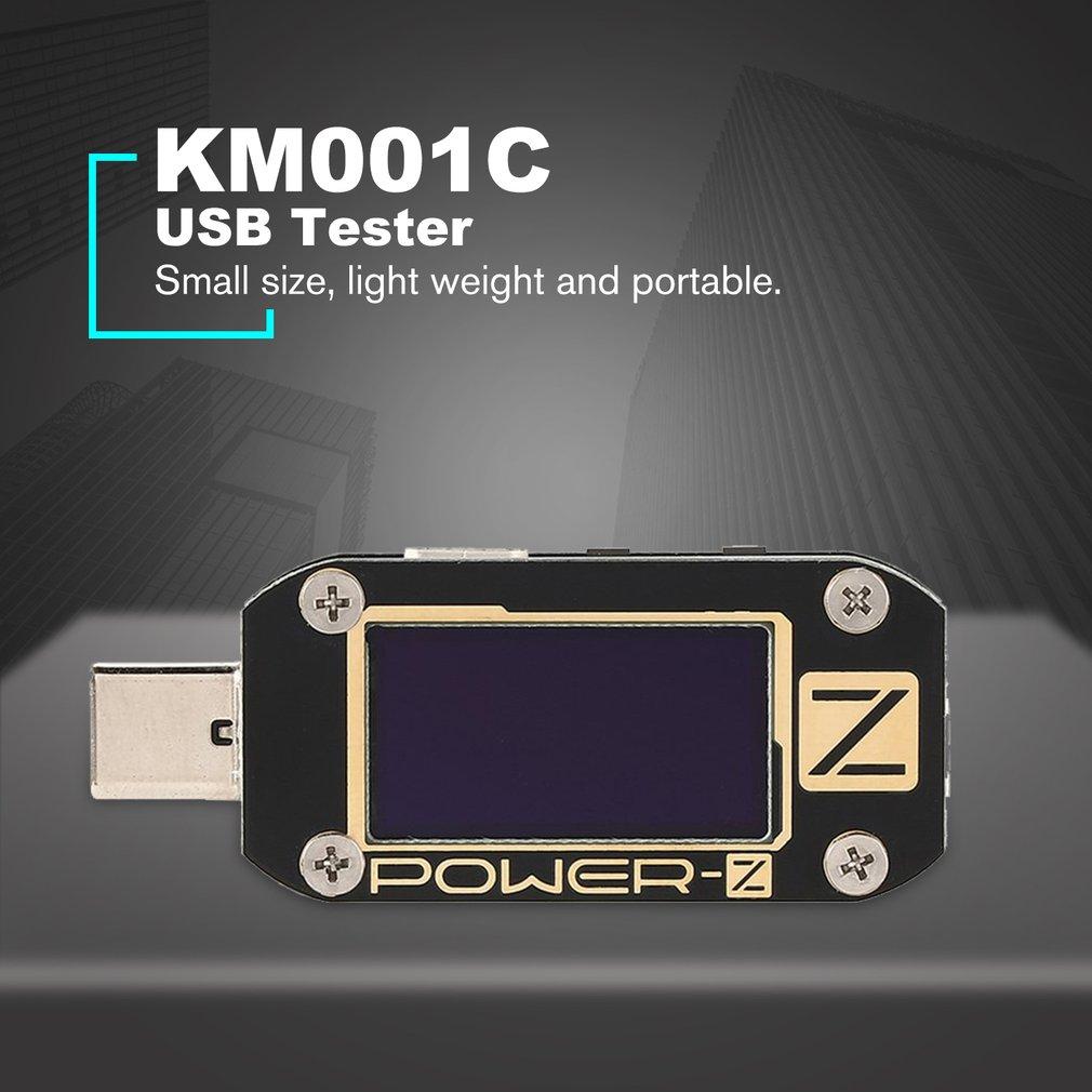 KM001C USB PD testeur chargeur rapide tension courant ondulation double type-c compteur batterie externe détecteur de tension mètres