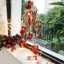 1.5/2/3/6 M Outdoor Sokken Led Fairy Lijn Lichten Kerst Home Party Decoratie(China)