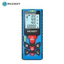 Mileseey medidor de distância a laser, medidor de distância recarregável com mini metros, telêmetro portátil, medição precisa