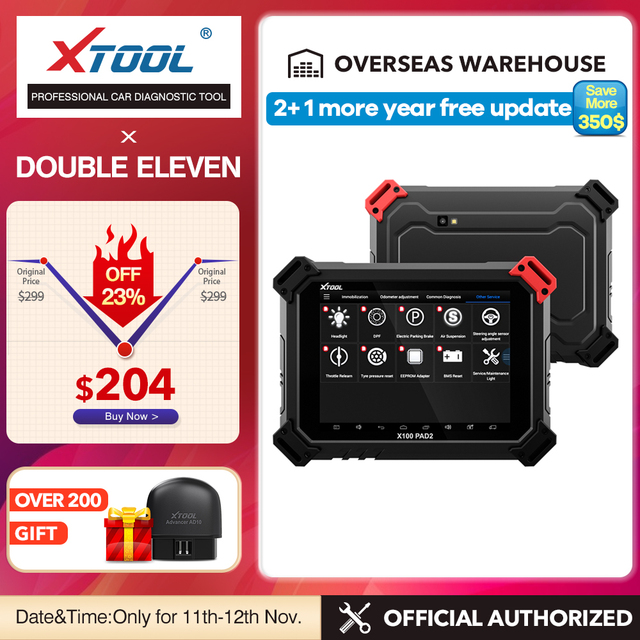 X100 PAD2 OBD2 Strumento di Diagnostica con 4th e 5th Immo programmatore Chiave auto Tutte Le funzioni Speciali per la maggior parte del modelli di auto