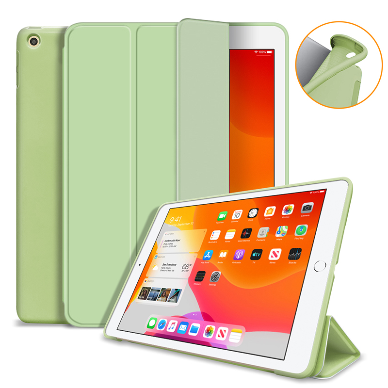Matcha green Black Silicone Cover Case For iPad 10 2 Case For iPad 8th 7th Generation Cover For Model