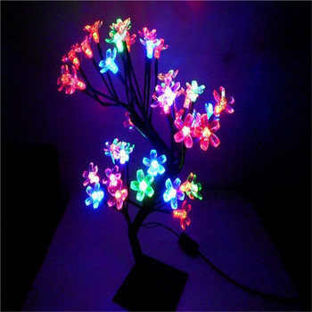 LED crystal cherry blossom tree Christmas new year wedding Luminaria decorative Night lights tree branches lamps indoor lighting