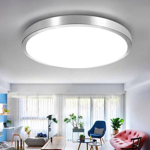 luminaria led moderna para teto para quarto sala de estar suporte em superficie para teto
