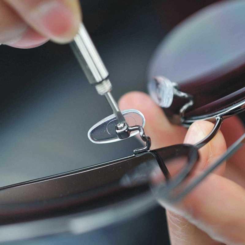 1 個ポータブルミニ多機能ドライバーメガネ Srewdriver ツール電話と 3 オールインワン小型のドライバー
