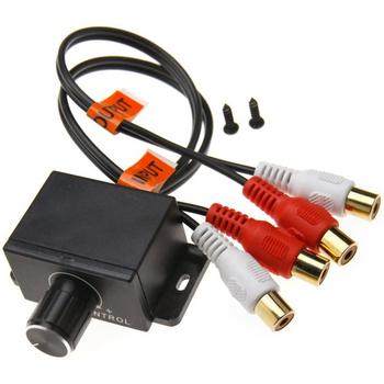 Poziom uniwersalny 12V przydatny automatyczny bezstratny regulator głośności wzmacniacz samochodowy regulator Audio zdalne pokrętło basowe akcesoria tanie i dobre opinie Woopower Stereo Plasric copper core Bass control Black About 0 15m