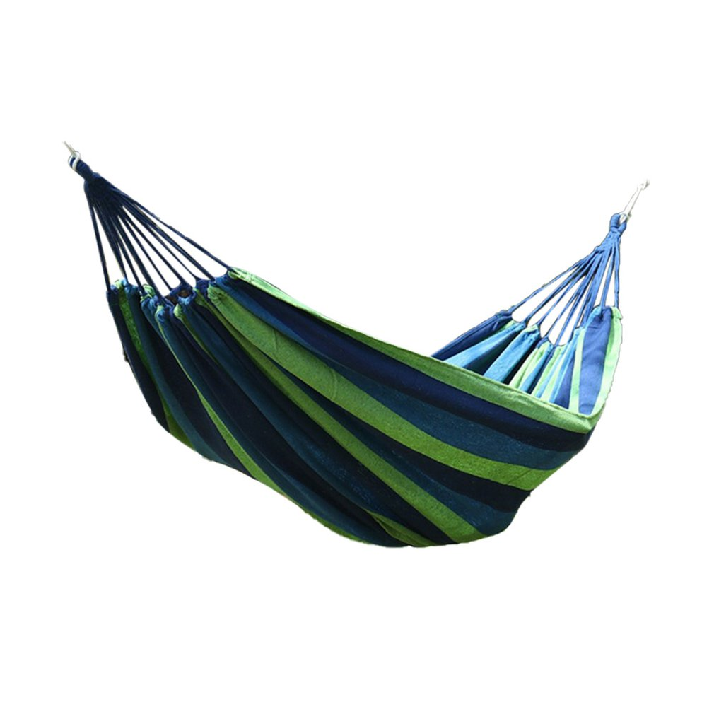 Canvas Single Double Hammock Anti-Rollover Bending Stick Hammock Swing Ice Mesh-Shaped Stick Hammock