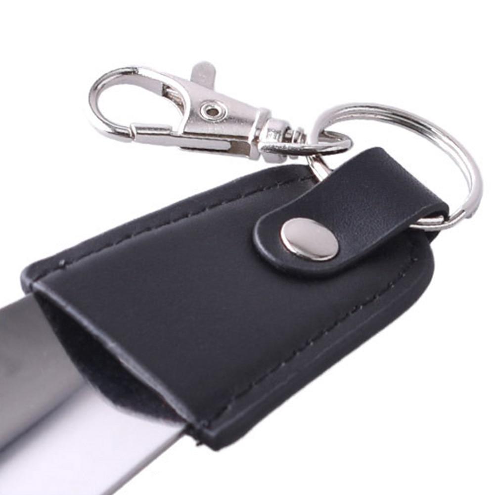 Stainless Steel Spoon Sturdy Shoe Horn Leather Slip Seniors Key Ring Portable