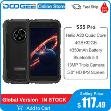 Doogee S35 Pro Helio A20 Quad Core 5.0 Inch 4Gb Ram 32Gb Rom 4350Mah Ai Triple Achter camera 360 ° All-Round Bescherming Android 10.0