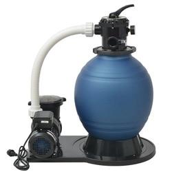 VidaXL песочный Фильтрующий насос 1000 Вт 16800 л/ч 91170 многопортовый клапан Улучшенный фланец стоп-зажим дизайн бассейн Фильтрующий насос V3