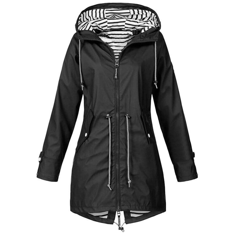 H3816404ecf814948920b30cd25636cad7 Women Jacket Coat Waterproof Windproof Transition Hooded Jackets Outdoor Hiking Clothes Outerwear Women's Lightweight Raincoat