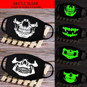 Dust-Proof Mask Cosplay MYKPOP Glow-In-Dark Black Double-Layer Cotton Cartoon SC20041218