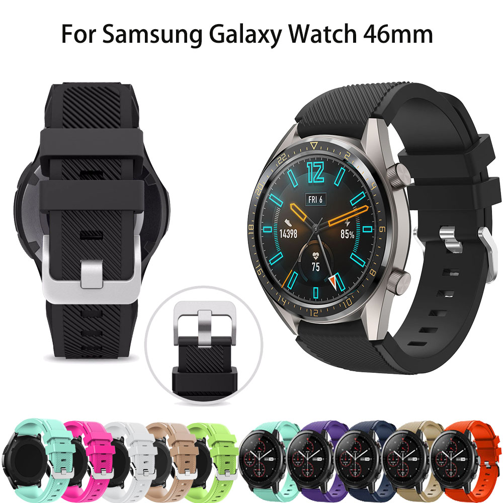 22MM Silicone Watchband Strap For Huawei Watch GT Sport Replacement WristBand For Samsung Gear S3 Galaxy Watch 46mm Smart Watch