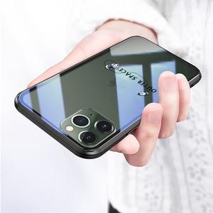 Image 4 - 強化ガラス電話ケース iphone 11 プロマックス 6.5 6.1 保護 transparant ケース iphone 11 pro のガラスシェルカバー