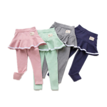 Girls Pants Kids Leggings 3-7Y Children Clothing spring Autumn Cotton Leggings Baby Girl Skirt-pants High Quality 7096 09 girls denim pants high quality spring kid clothing autumn girl trousers fall children jeans pants leggings heart pattern jeans
