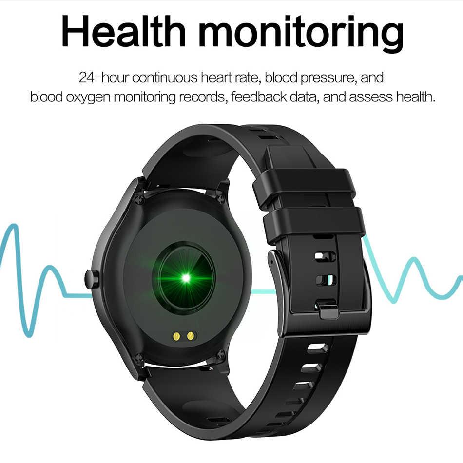 LIGE Cao Cấp Mới LED 1.28 ''Tft Full Màn Hình Cảm Ứng Nam Đồng Hồ Thông Minh Thể Thao Chống Thấm Nước Cho iPhone Android Smartwatch Dành Cho Nam phụ Nữ