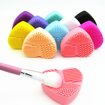 BBL 1 Piece Silicone Makeup Brush Cleaning Makeup Brushes Cleaner Heart Glove Cosmetic Brush Cleaning Mat Portable Washing Tools 1