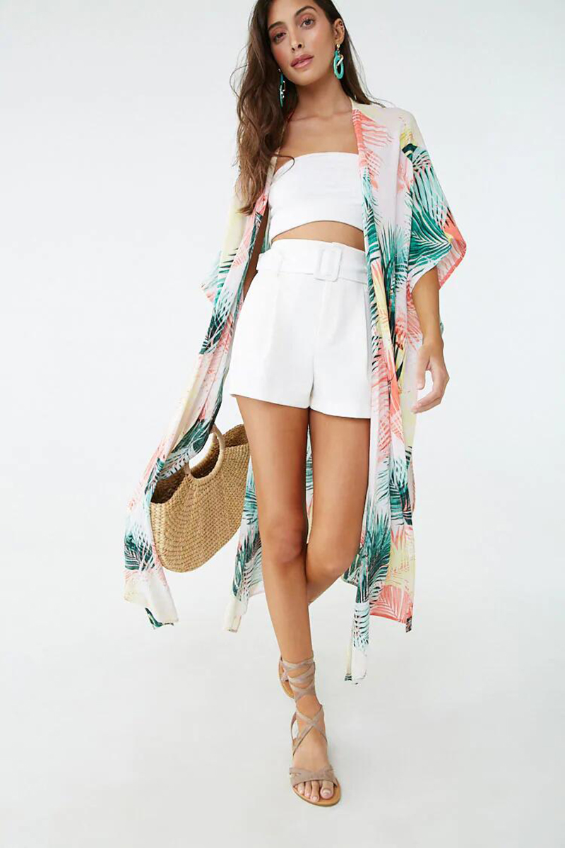 H3816ea0e3cb4452d8784757737f9623eu - Bohemian Printed Half Sleeve Summer Beach Wear Long Kimono Cardigan Cotton Tunic Women Tops Blouse Shirt Sarong plage N796