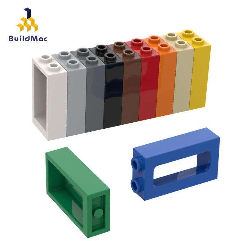 Buildmoc compatível monta partículas 4035 1x2x3 janela blocos de construção peças diy logotipo educacional criativos presente brinquedos