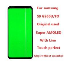 Originele 5.8 Amoled Voor Samsung Galaxy S9 G960A G960U G960F Lcd Touch Screen Digitizer Vergadering Met Lijn