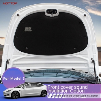 Przednia osłona silnika redukcja szumów mata dźwiękoszczelne wacik kosmetyczny dla Tesla Model 3 maska samochodu silnik zapora ogniowa mata osłona na Pad tanie i dobre opinie CN (pochodzenie) Kaptur Izolacja Pad Gumy Piankowej