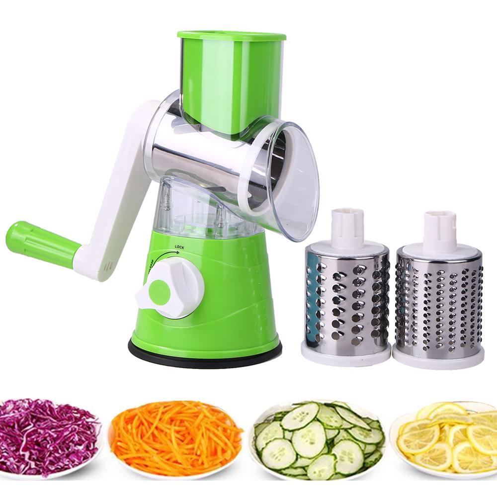 Manual Vegetable Potato Fruit Round Cutter Slicer Shredder Kitchen Gadgets Tool