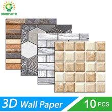 3d adesivo de parede diy tijolo pedra padrão auto-adesivo à prova dwaterproof água adesivos de parede cozinha backsplash banheiro telha adesivos de parede