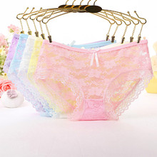 Women Underwear Sexy Japan Cute Style Lingerie Jacquard Net Full Lace Briefs Panties Drop Ship Wholesale