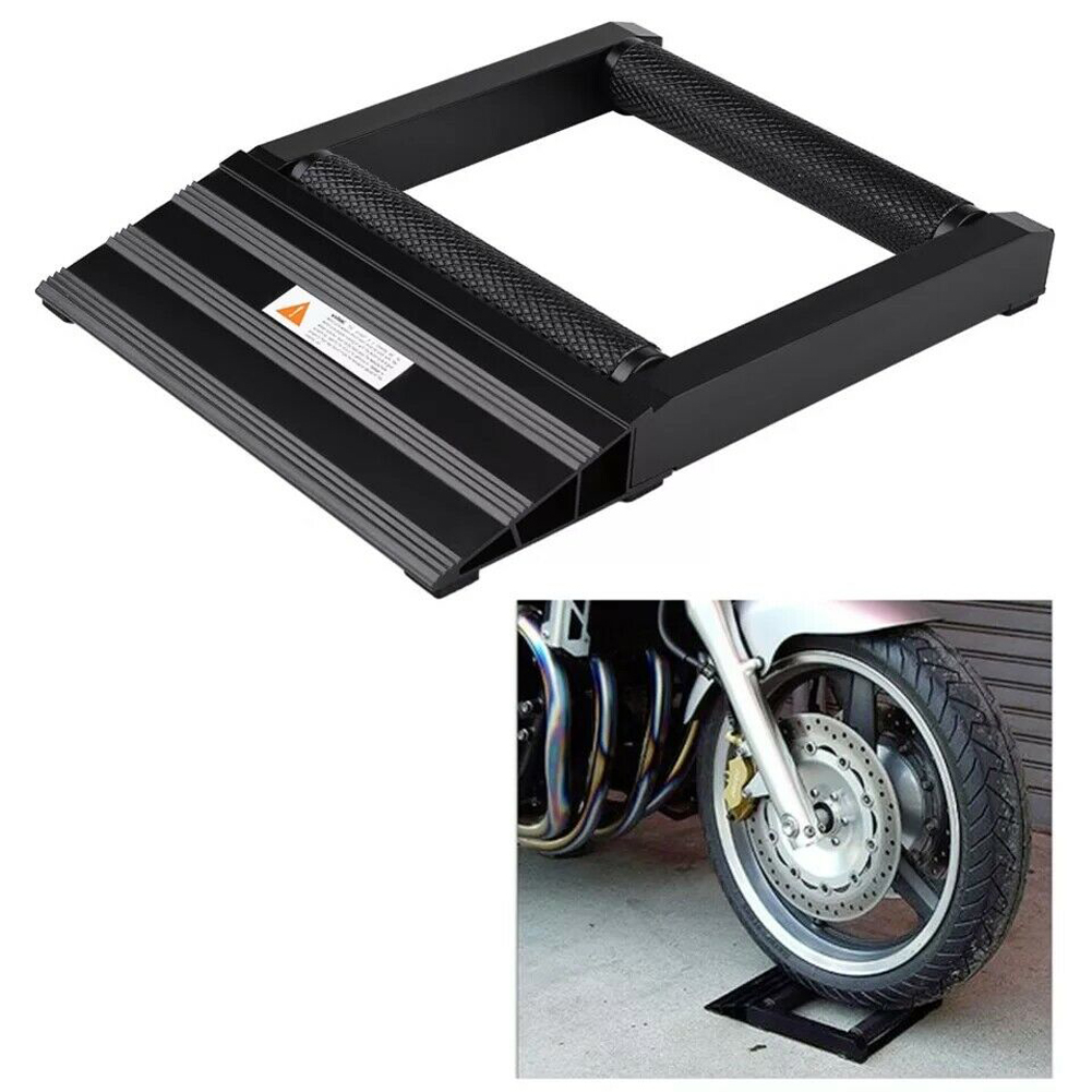 Motorbike Tyre Wheel Tire Chain Cleaning Lubricate Stand Rollers Ramp Lift Stand 8
