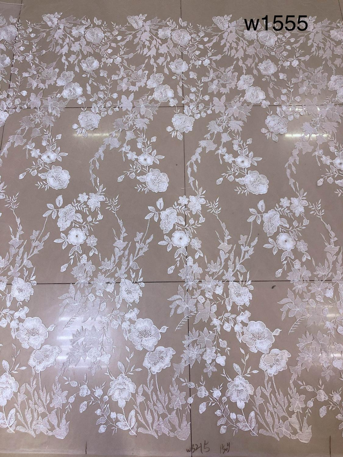 Embroidered Sequin Flower Beautiful Lace Fabric For Wedding Dress10 Yards/Lot