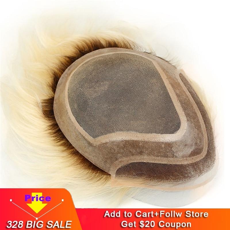 Human Hair Toupee For Men European Human Hair Pieces For Men With 10