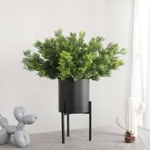 Artificial Flowers Fake Plants Fern Grass Wedding Wall Outdoor Decor Green Leaf Plastic Plant Vine For Home Garden Decoration(China)