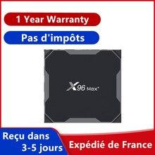 Decodificador inteligente X96 max + iptv, 4GB, 64GB, Android 9,0, Amlogic S905X3, x96 max plus, 4G, 32G, envío desde Francia