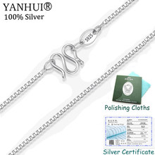 Big Promotion Classic Basic Box Chain with Certificate 100% Original 925 Sterling Silver M Clasp Necklace Women Fine Jewelry(China)