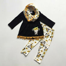 цена на Girls Clothes Kids Baby Girls Floral Clothes Long Sleeve T-shirt Dress Top Pants Leggings Autumn Outfit