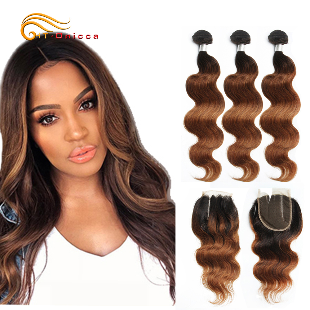 70g/pc <font><b>Ombre</b></font> Human Hair <font><b>Bundles</b></font> <font><b>With</b></font> <font><b>Closure</b></font> 1B 30 Honey Blonde <font><b>Bundles</b></font> <font><b>With</b></font> <font><b>Closure</b></font> <font><b>Peruvian</b></font> <font><b>Body</b></font> <font><b>Wave</b></font> <font><b>Bundles</b></font> <font><b>With</b></font> <font><b>Closure</b></font> image