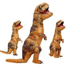 Взрослый детский надувной костюм динозавра T REX wo мужские костюмы динозавр инопланетянин Хэллоуин нарядное платье карнавальный костюм косплей