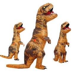 Взрослый детский надувной костюм динозавра T REX, женские и мужские костюмы, костюм динозавра, инопланетянина, нарядное платье на Хэллоуин, ка...